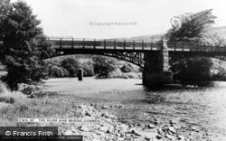 Corwen, The River And Bridge c.1965