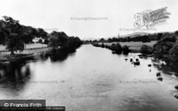 The River From The Bridge c.1955, Corwen