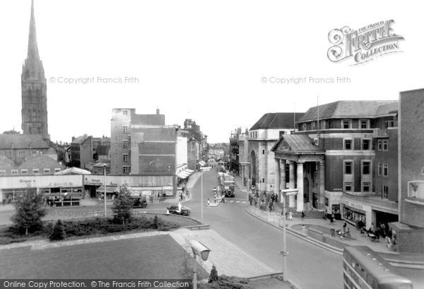 Coventry, High Street and Broadgate c1955
