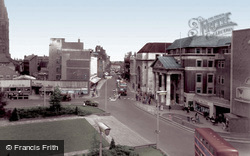 High Street And Broadgate c.1955, Coventry