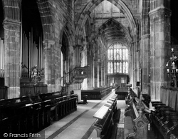 Coventry, Holy Trinity Parish Church, Choir Looking West c.1965
