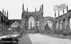 Coventry, The Cathedral Ruins c.1955