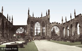 Coventry, the Cathedral Ruins c1955
