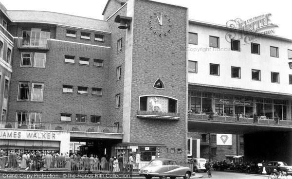 Coventry, the Lady Godiva Clock c1965