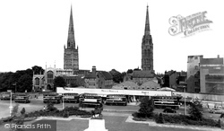 Coventry, Twin Spires And Broadgate c.1955