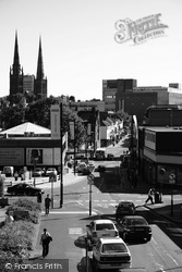 View Up Bishop Street Towards Cross Cheaping 2004, Coventry