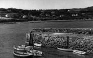 Coverack, Bay Hotel and Porthgwara House c1960