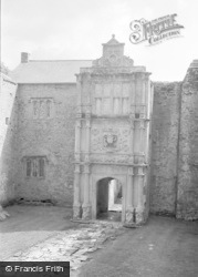 Cowbridge, Beaupre Castle, The Inner Porch 1960
