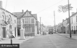 Cowbridge, Town Hall Square 1955