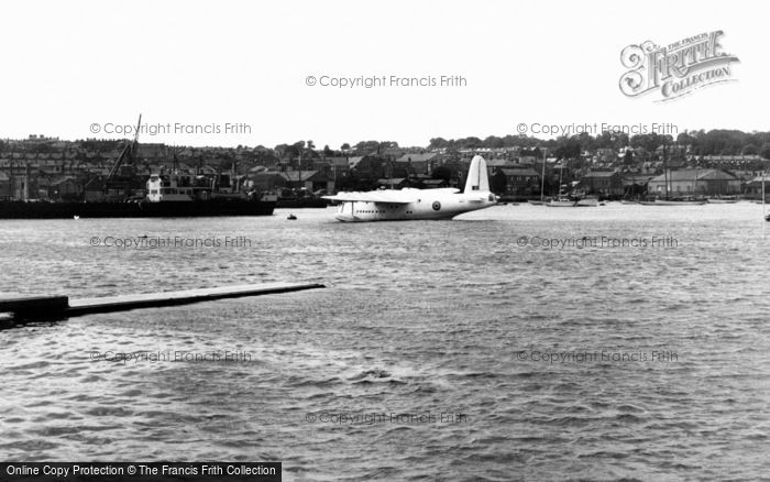 Cowes, A Flying Boat c.1955