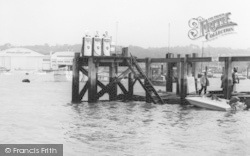 Cowes, The Harbour Petrol Pumps c.1960