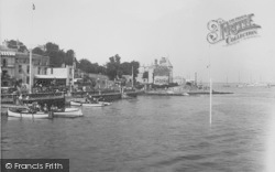 Cowes, Yacht Club From The Pier 1933