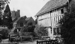 Cowfold, Church And St Peter's Cottage 1959