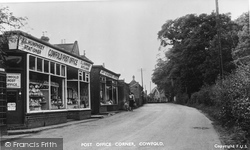 Cowfold, Post Office Corner 1950