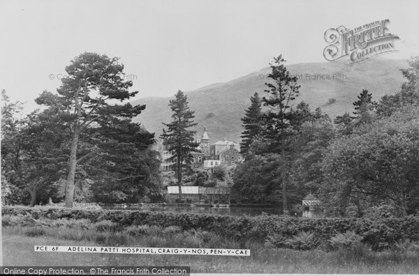 Photo of Craig Y Nos, Adelina Patti Hospital c.1955