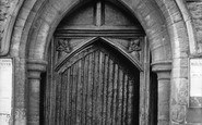 Cranbrook, Church, Old Oak Door 1908