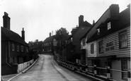 Cranbrook, St Davids Bridge And The Hill c.1955