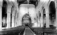 Cranbrook, St Dunstan's Church Interior 1906