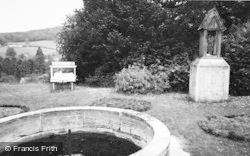 Cranham, The Fish Pond And Our Lady Of Prinknash, Prinknash Abbey c.1960