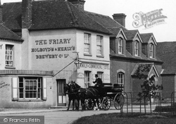 Cranleigh, Carriage Outside The Friary 1904