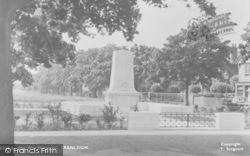 Cranleigh, The War Memorial c.1955