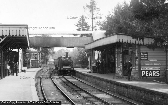 Photo of Cranleigh, Train Arriving At The Station 1908