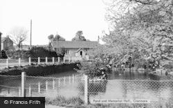 Pond And Memorial Hall c.1950, Cranmore