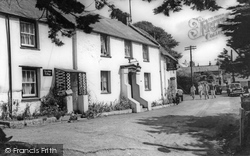 Lych Gate And The Old Albion c.1960, Crantock
