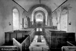 St Carantoc's Church, Interior 1894, Crantock