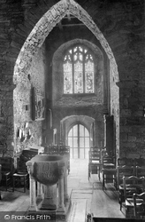 St Carantock's Church, The Font 1912, Crantock