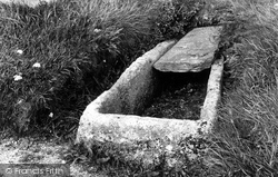 Stone Coffin In The Churchyard 1894, Crantock