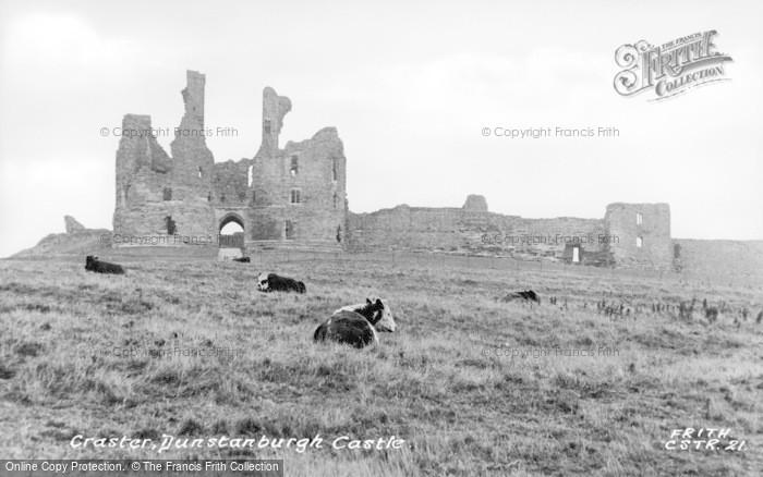 Photo of Craster, Dunstanburgh Castle c.1950