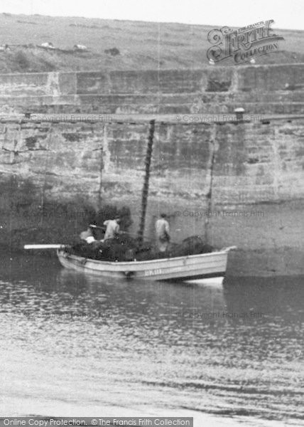 Photo of Craster, Fishing Boat In The Harbour c.1950