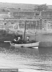 Craster, Fishing Boat In The Harbour c.1950