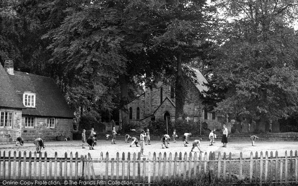 Crawley Down, The School And Church c.1955