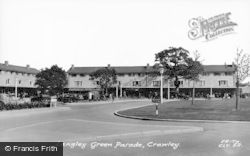 Crawley, Langley Green Parade c.1955