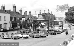 Crawley, The George Hotel And High Street 1958