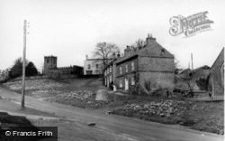 The Green And St Cuthbert's Church c.1960, Crayke