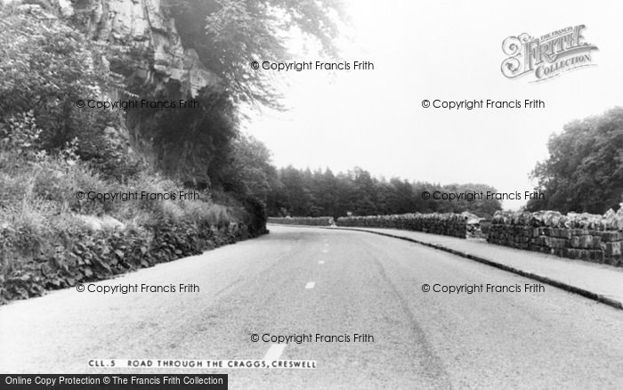 Photo of Creswell, Road Through The Craggs c.1955