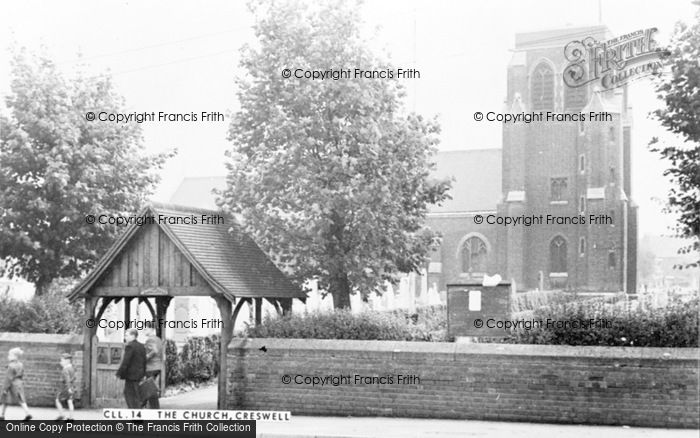 Photo of Creswell, St Mary Magdalene Church c.1955