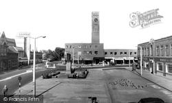 Crewe, Market Square c.1960