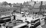 Crewe, Market Street and the Square c1955