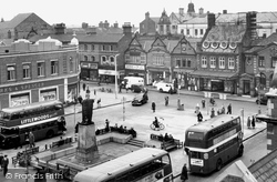 Crewe, Market Street And The Square c.1955