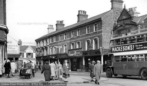 Crewe, Market Street c1950
