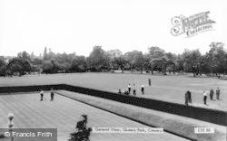Crewe, Queen's Park, Bowling c.1965