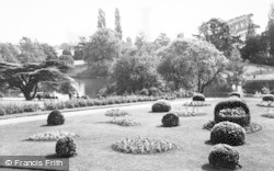 Crewe, Queen's Park, The Gardens And Lake c.1960