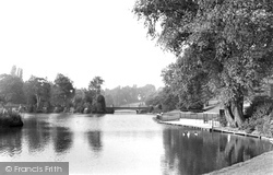 Crewe, Queen's Park, The Lake And Bridge c.1950