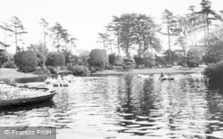 Crewe, The Boating Lake, Queen's Park c.1960
