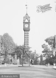 Crewe, The Clock Tower, Queen's Park c.1950