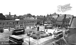 The Square c.1955, Crewe